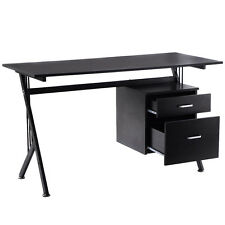 K-Frame Wood Computer Desk Laptop Writing Table Workstation Home Office Black