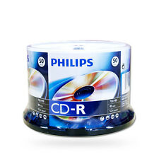 50Pk Cake Box Philips 52X 80MIN 700MB Blank CD CD-R CDR Media for Music Photo