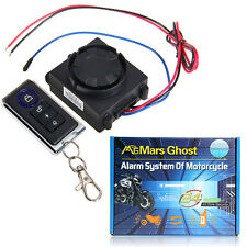 Motorcycle Anti-Theft Security Alarm System Vibration Detector Remote Control