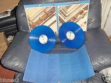 THE BEATLES DOUBLE ALBUM 1967-1970 GREATEST HITS ON BLUE VINYL PLAYS BRILLIANTLY