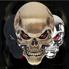 Skull Bone Car Motorcycle Auto Chrome 3D Metal Emblem Badge Decal Sticker