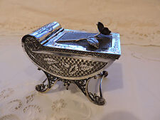 Antique Victorian Tufts Jewel Casket Box Silverplate