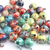 40pcs14mm Assorted Colorful Jingle Bells Fit Festival/Party Decor Christmas C