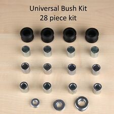 SHOCK ABSORBER BUSHES FOR MOTORCYCLES,  Universal Kit 28 pieces - 8,10,12mm