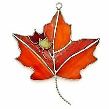 SWITCHABLES Stained Glass Night Light Cover, MAPLE LEAVES, New In Box