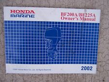 2001 Honda Marine BF200A  BF225A Outboard Motor Owner Manual   MANY MANUALS!!  S