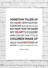 Arcade Fire - Wake Up - Song Lyric Art Poster - A4 Size
