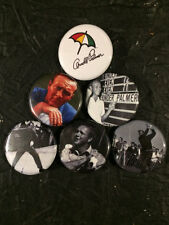 "1.25"" Arnold Palmer pin back button set of 6"