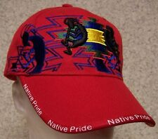 Embroidered Baseball Cap Native American Pride Kokopelli NEW 1 size fits all red