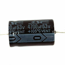 2pc Electrolytic Capacitor GHA 4700uF 63V 105℃ 2000hrs φ25x42mm Axial RoHS SC