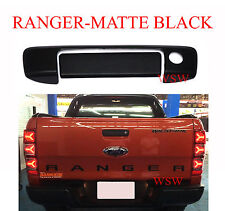 MATTE BLACK KEYHOLE TAILGATE HANDLE COVER FOR FORD RANGER WILDTRAK PX T6 2012-16