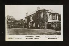 Hampshire Hants BOURNEMOUTH Cotford Hall Hotel Advert 1944 RP PPC fault