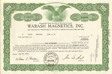 Wabash Magnetics 1975 Fort Wayne Indiana stock certificate share