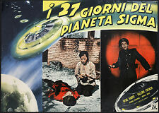 CINEMA-fotobusta I 27 GIORNI DEL PIANETA SIGMA g. barry