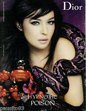 PUBLICITE ADVERTISING 115  2009  DIOR  parfum HYPNOTIC POISON & MONICA BELLUCI
