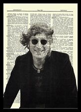 John Lennon Dictionary Art Print Book Page The Beatles Picture Poster Music