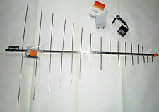 KIT ANTENNA DIGITALE TERRESTRE LOGARITMICA ALIMENTATORE TV LOG AMPLIFICATORE 32