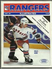 February 14, 1988 Rangers vs Islanders Hockey Program--Kelly Kisio