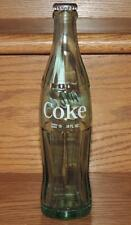 1965 USA ACL COCA-COLA VERTICAL TRADE- MARK 10 oz GLASS BOTTLE w/CAP MOBILE ALA