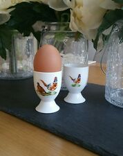 Set of 2 (Pair) Bone China Pheasant Game Bird Egg Cup Hand Decorated In Wales