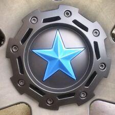 5 BLUE star SKINS for center STAR on kmc XD Rockstar 775 & 811's (Truck wheels)
