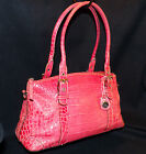 Dooney and Bourke Pink Alligator Crocodile Leather Domed Satchel Nile Collection