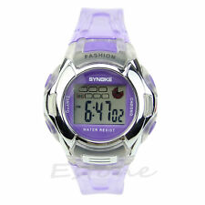 Multifunction Waterproof Electronic Sport Digital Wrist Watch For Child Girl Boy