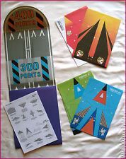 PAPER AIRPLANE FLYING GAME PACK 2 - Make 8 Planes with Runway & Instructions NEW