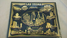 Las Vegas Black & Gold Rectangular Collector Plate, with Hotels Stardust, Sands