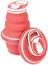 Hydaway 1897-WP-103 Collapsible Water Bottle, Silicone, Chili Red, 21 Oz