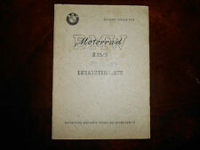 BMW OEM 1953-1954 R25 3 ERSATZTEILLISTE Spare Parts List Catalog Booklet Manual