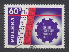 POLAND 1971 USED SC#1831 VI Congress of Polish Engineers - perforated tape.