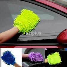 Car Valeting Polish Cleaning Microfibre Chenille Wash Mitt Glove Cloth Noodle CA