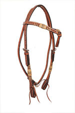 Western Natural Futurity Stlye  Natural Rawhide Braided Head Stall