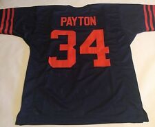 Walter Payton Chicago Bears Unsigned Custom Throwback Blue Jersey
