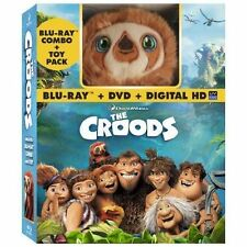 The Croods (Blu-ray/DVD, 2013, 2-Disc Set, Includes Digital Copy With Toy) NEW