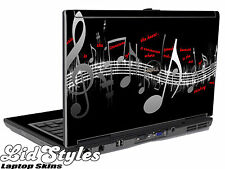 LidStyles MUSIC NOTES Laptop Skin Decal fits Dell Latitude D620 D630 Series