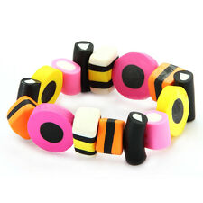 LIQUORICE ALLSORTS STYLE ELASTICATED BRACELET - Retro Sweets Bangle by Joe Cool