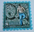 PK 2 GRAFITTI & MUSCLES HAPPY BIRTHDAY EMBELLISHMENT TOPPERS FOR CARDS/CRAFTS