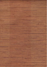 Rust Brown Faux Grasscloth Wallpaper With Faint Stripes - SB4822