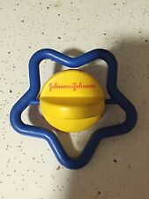 Johnson & Johnson STAR Baby Rattle Toy and Red Yellow Blue Teether Vintage 1984