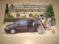 MITSUBISHI SPACE RUNNER & SPACE WAGON UK SALES BROCHURE - DATED OCTOBER 1993