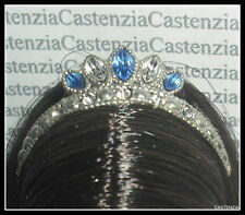TIARA  MATTEL BARBIE DOLL QUEEN OF SAPPHIRES GLAMOUR SWAROVSKI CRYSTALS CROWN