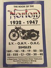 NORTON MANUAL 16H 16I 18 19 20 30 40 50 55 ES2 CJ CSI WORKSHOP MODELS 1932-1947