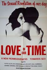 LOVE IN OUR TIME one sheet movie poster 27x41 SEXPLOITATION 1968