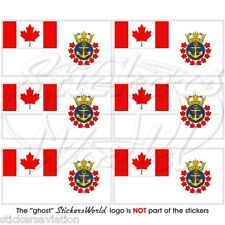 CANADA Royal Canadian Sea Cadets Ensign Flag Mobile Cell Phone Mini Stickers x6