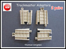 Thomas Trackmaster Tomy Blue track convert  to Brown Track.Adapter [2 pairs]New
