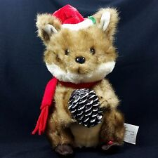 Gemmy Christmas Singing Chipmunk Animated Plush Stuffed Decoration Doll Acorn