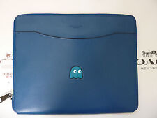 NWT Coach PAC-MAN Leather Tech / IPad Case F56058 Denim *Limited Edition*