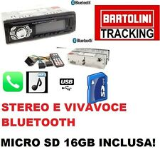 STEREO BLUETOOTH AUTORADIO VIVAVOCE RADIO FM MP3 USB AUX SD CARD NEW